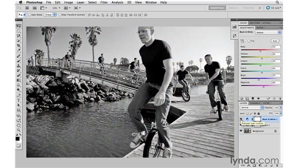 Introducing adjustment layers: Photoshop CS5 Essential Training
