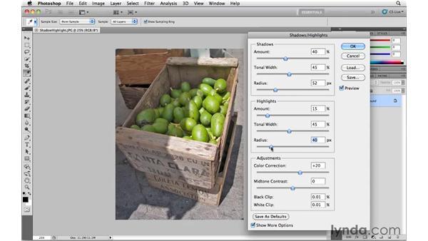 Shadow/Highlight: Photoshop CS5 Essential Training