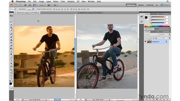 Matching color across multiple images: Photoshop CS5 Essential Training