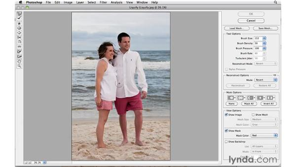 Body sculpting with Liquify: Photoshop CS5 Essential Training