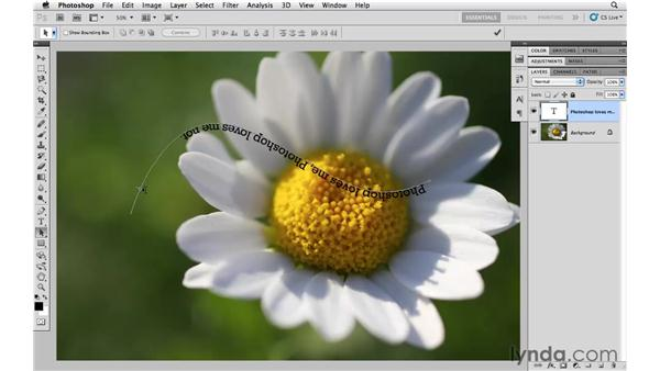 Type on a path: Photoshop CS5 Essential Training