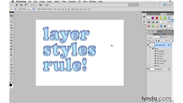How (and when) to scale layer effects: Photoshop CS5 Essential Training