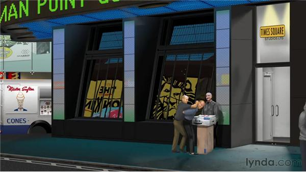 Times Square project: overview: Creative Inspirations: Bert Monroy, Digital Painter and Illustrator
