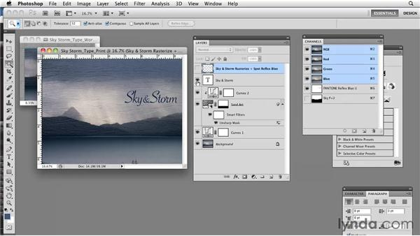 Working with PSD files: Photoshop CS5: Prepress and Printing