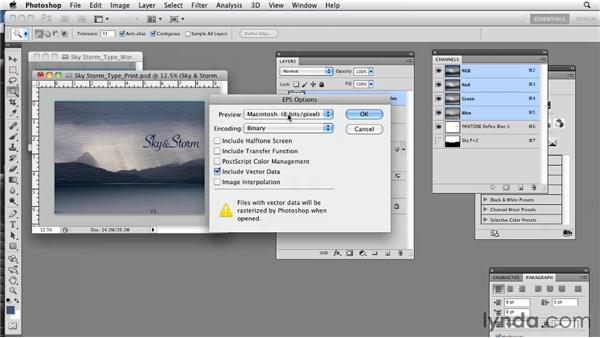 Working with EPS: Photoshop CS5: Prepress and Printing
