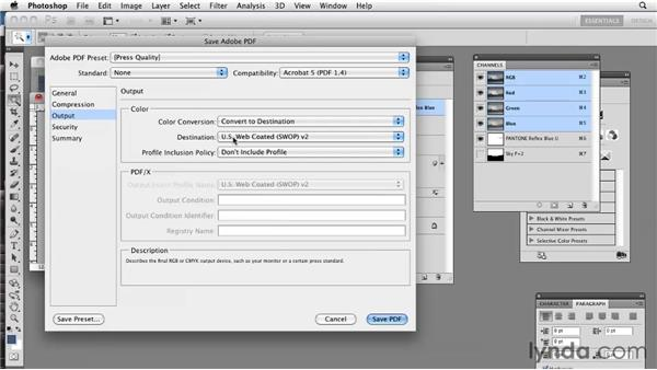 Working with PDFs: Photoshop CS5: Prepress and Printing