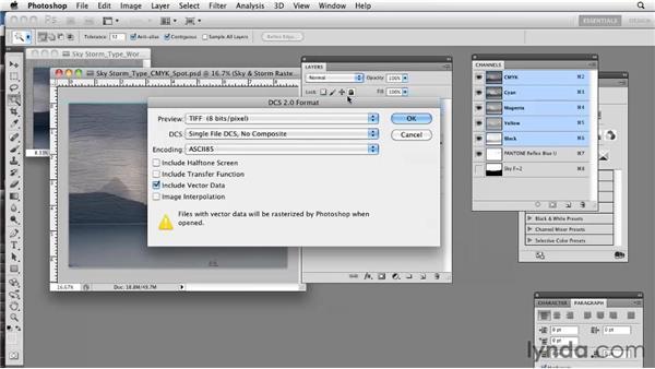 Saving spot colors in DCS 2.0 format: Photoshop CS5: Prepress and Printing