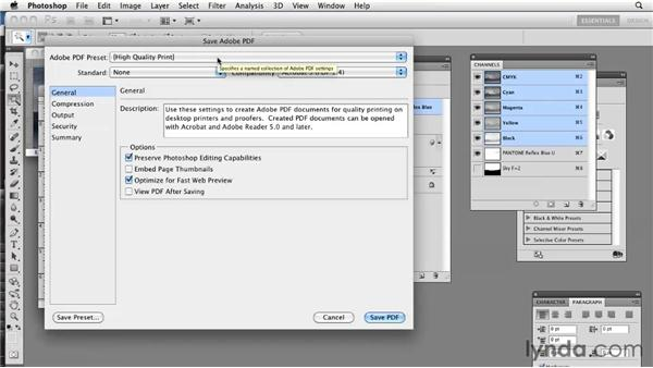 Saving spot colors as PDFs: Photoshop CS5: Prepress and Printing