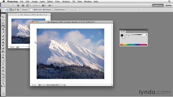 Creating printable gradients: Photoshop CS5: Prepress and Printing