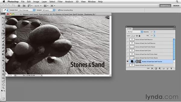 Working with hard-edged type: Photoshop CS5: Prepress and Printing