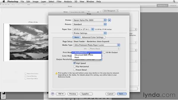 Printing to double-channel grayscale: Photoshop CS5: Prepress and Printing