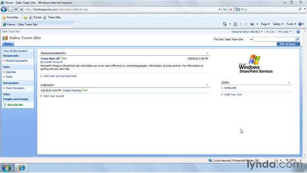 Understanding collaboration sites and portal sites: SharePoint Designer 2007: Branding SharePoint Sites