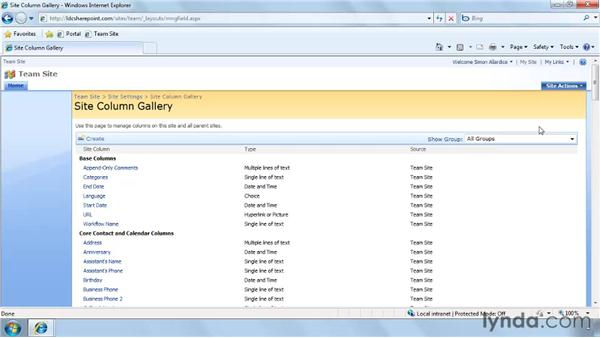 Creating site columns: SharePoint Designer 2007: Branding SharePoint Sites