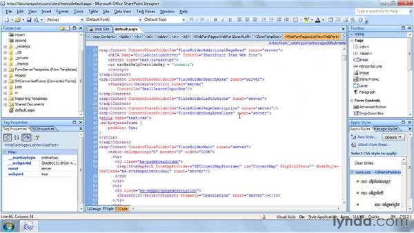 Using the Code and Design views: SharePoint Designer 2007: Branding SharePoint Sites