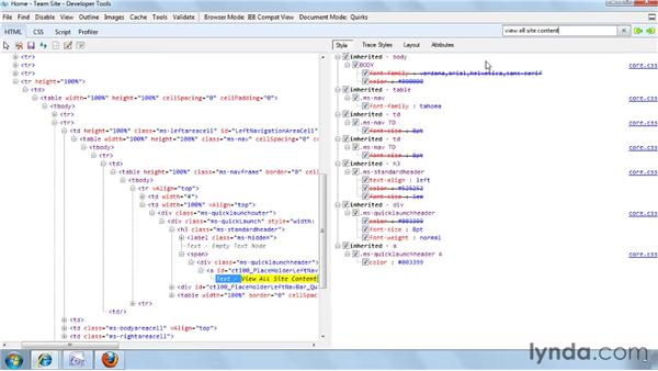 Detecting what CSS styles are being applied: SharePoint Designer 2007: Branding SharePoint Sites