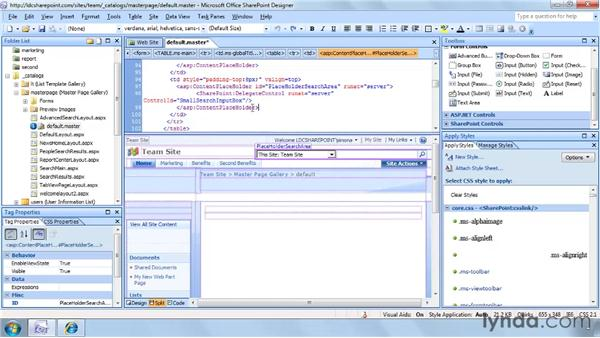 Understanding the placeholders in WSS master pages: SharePoint Designer 2007: Branding SharePoint Sites