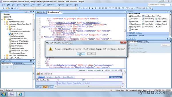 Restoring default.master: SharePoint Designer 2007: Branding SharePoint Sites