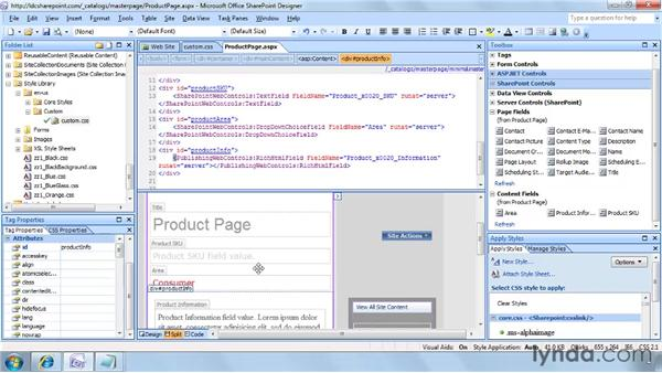 Editing a page layout in SharePoint Designer: SharePoint Designer 2007: Branding SharePoint Sites