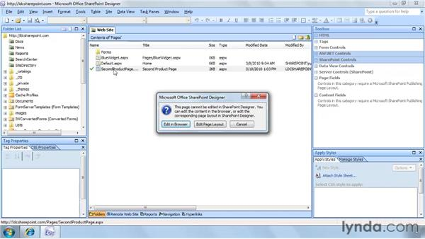 Creating new pages based on page layouts: SharePoint Designer 2007: Branding SharePoint Sites
