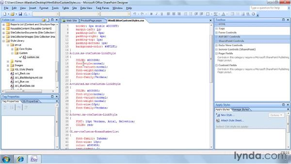 Controlling fonts and layouts: SharePoint Designer 2007: Branding SharePoint Sites