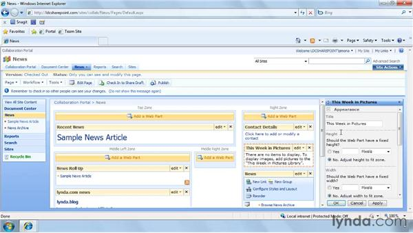 Customizing the News site: SharePoint Designer 2007: Branding SharePoint Sites