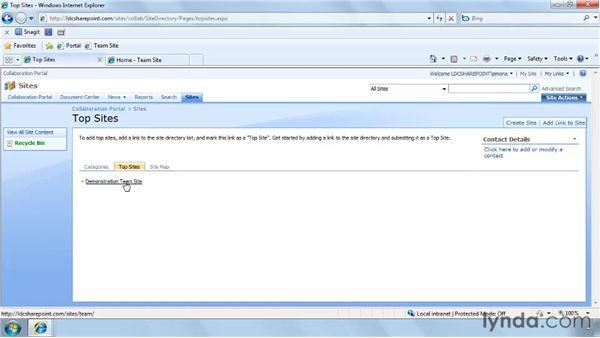 Customizing the Site Directory: SharePoint Designer 2007: Branding SharePoint Sites