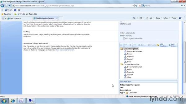 Editing navigation in Publishing Sites: SharePoint Designer 2007: Branding SharePoint Sites