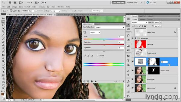 Making a Hue/Saturation layer: Photoshop CS5 One-on-One: Fundamentals