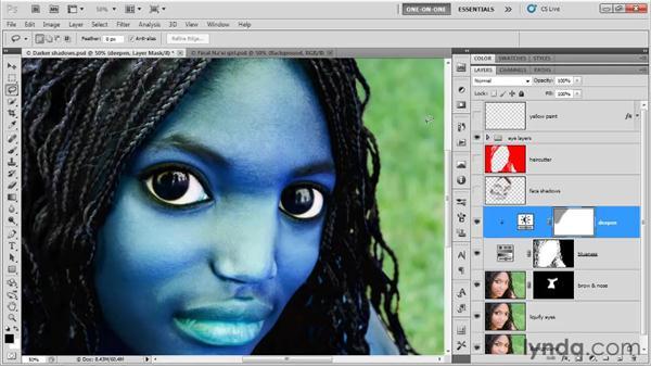 Mask density: Photoshop CS5 One-on-One: Fundamentals