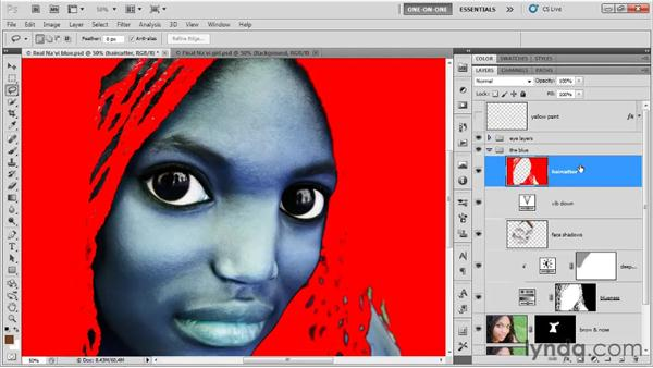 Making a knockout layer: Photoshop CS5 One-on-One: Fundamentals