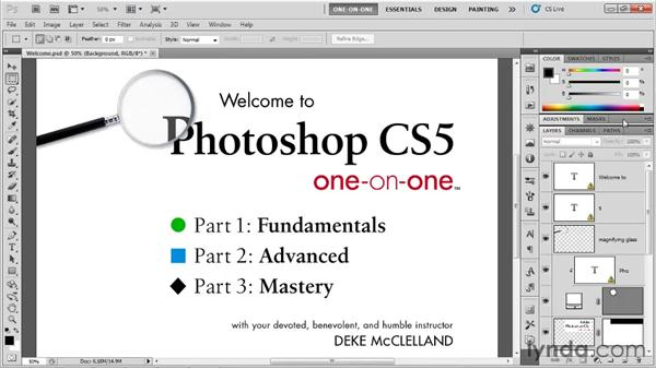 Changing settings and updating the workspace: Photoshop CS5 One-on-One: Fundamentals