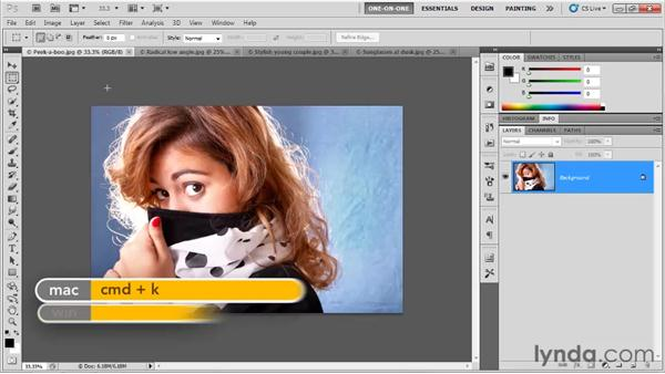 Opening and closing multiple images: Photoshop CS5 One-on-One: Fundamentals