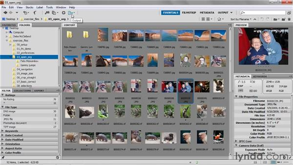 A whirlwind tour of Bridge: Photoshop CS5 One-on-One: Fundamentals