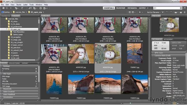 Rotating images on their sides: Photoshop CS5 One-on-One: Fundamentals