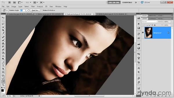 The Rotate View tool: Photoshop CS5 One-on-One: Fundamentals
