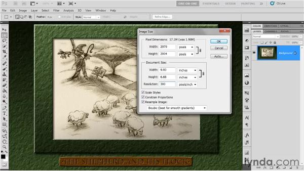 The Image Size command: Photoshop CS5 One-on-One: Fundamentals