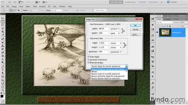 Selecting an interpolation option: Photoshop CS5 One-on-One: Fundamentals