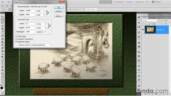Print size and resolution: Photoshop CS5 One-on-One: Fundamentals