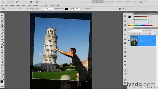 Using the Crop tool: Photoshop CS5 One-on-One: Fundamentals