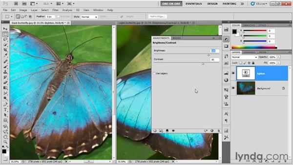 Editing adjustment layers: Photoshop CS5 One-on-One: Fundamentals