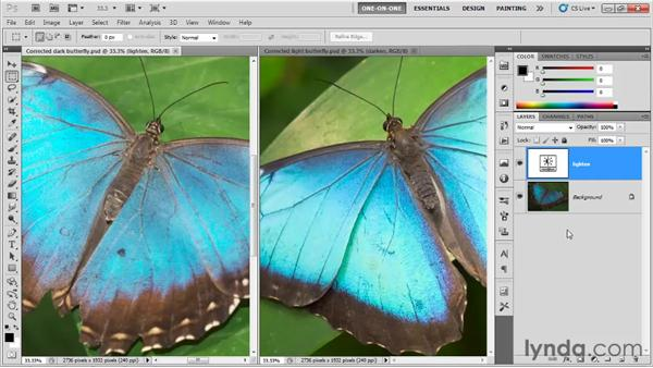 Saving adjustment layers: Photoshop CS5 One-on-One: Fundamentals