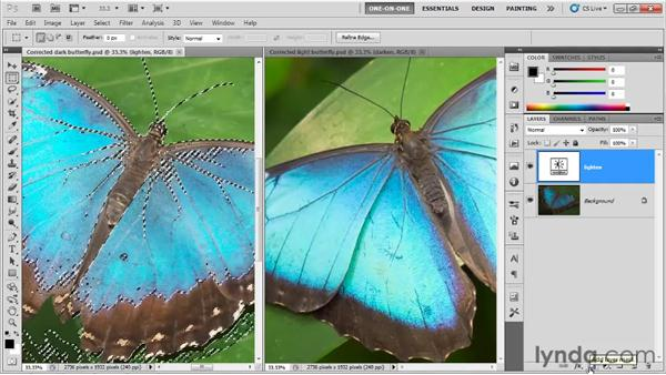 Adding a quick layer mask: Photoshop CS5 One-on-One: Fundamentals