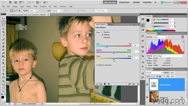 Using Color Balance: Photoshop CS5 One-on-One: Fundamentals
