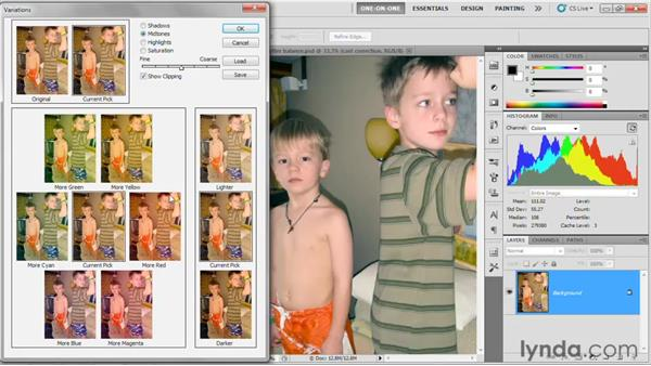 Introducing the Variations command: Photoshop CS5 One-on-One: Fundamentals