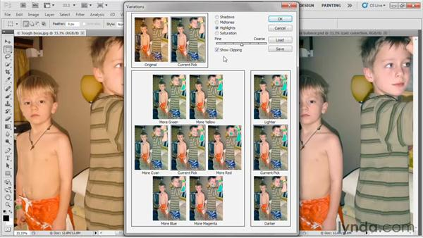 Luminance and saturation controls: Photoshop CS5 One-on-One: Fundamentals