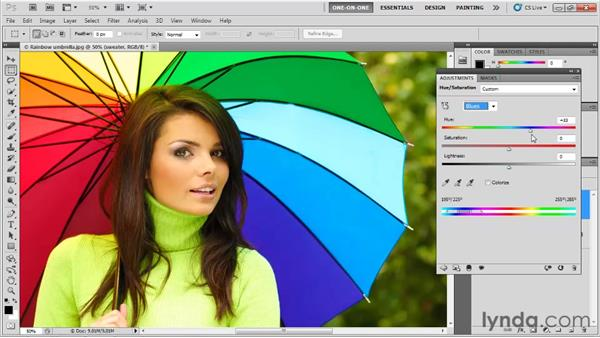 Adjusting hues selectively: Photoshop CS5 One-on-One: Fundamentals