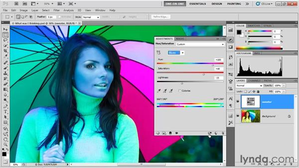 The Target Adjustment tool: Photoshop CS5 One-on-One: Fundamentals