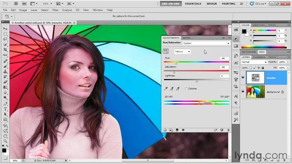 Photoshop CS5 Target Adjustment enhancements: Photoshop CS5 One-on-One: Fundamentals