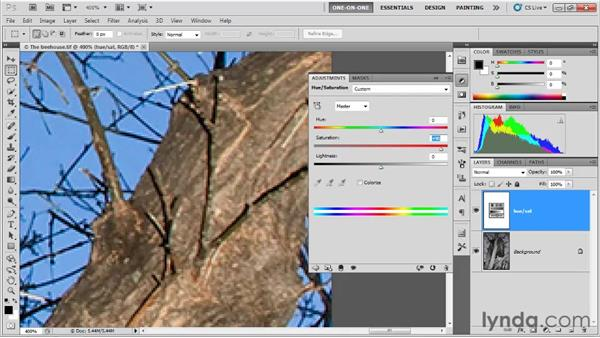 Enhancing a low-saturation image: Photoshop CS5 One-on-One: Fundamentals