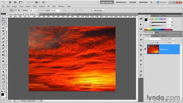 Marking the center of an image: Photoshop CS5 One-on-One: Fundamentals